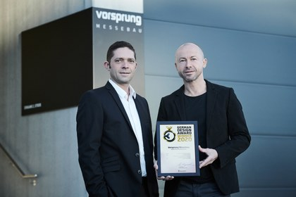 Daniel Keck und Andreas Haselwanter mit dem German Design Award.