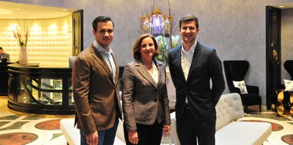 Florian Wassel BA, Andrea Fuchs (General Manager, Sans Souci), Peter Fetz (Marketing Manager, Sans Souci)