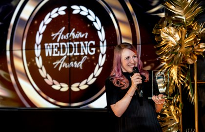 Michell Kreil beim Austrian Wedding Award. Foto: itsyourday.at